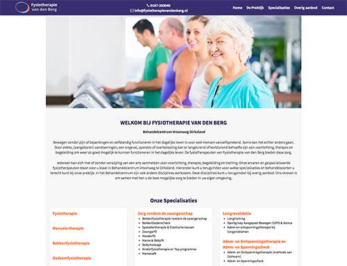 Website Fysiotherapie van den Berg