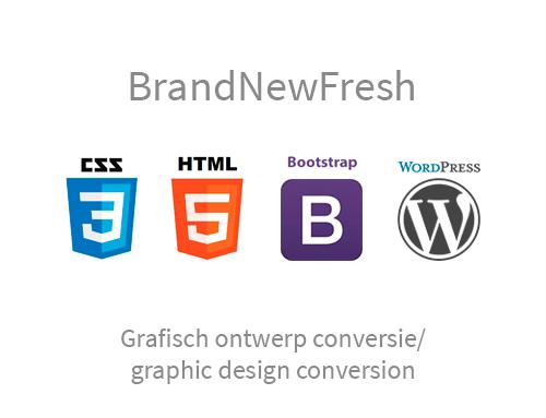 Grafisch ontwerp conversie naar responsive website