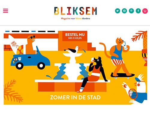 Nieuwe website voor Bliksem Magazine