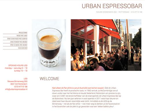 Omzetten van website naar Wordpress voor de Urbanespresso Bar
