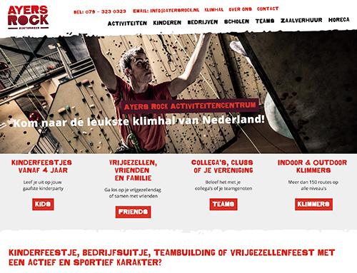 Nieuwe website voor AyersRock.nl