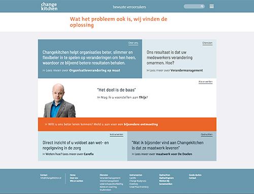 Nieuwe website voor Changekitchen