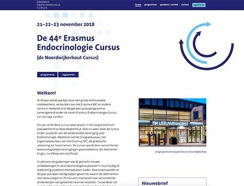 Nieuwe website voor de Erasmus Endocrinologie Cursus