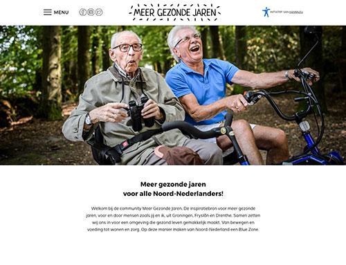 Nieuwe website voor Meer Gezonde Jaren
