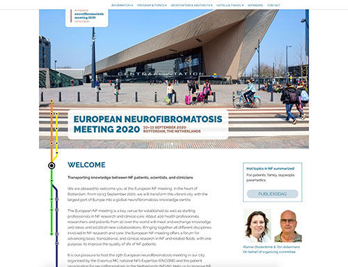 Nieuwe website voor European Neurofibromatosis Meeting 2020