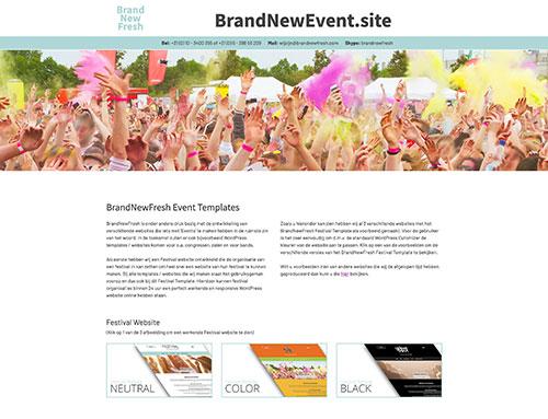 Het BrandNewFresh Festival Template