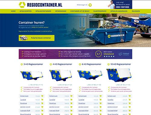 Nieuwe website voor Regiocontainer.nl