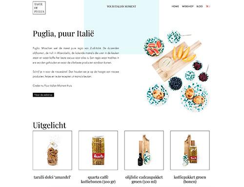 Nieuwe website voor Taste Of Puglia