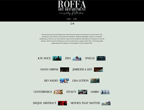 Nieuwe website voor Roffa Art Department