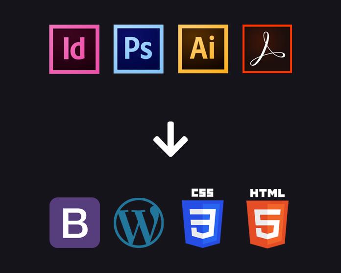 Pixel Perfect Grafisch ontwerp conversie naar responsive Wordpress websites