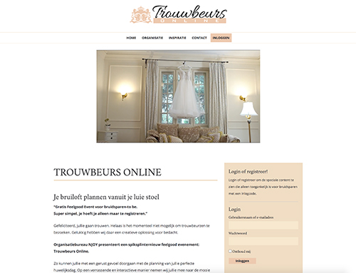 Trouwbeurs Online Website