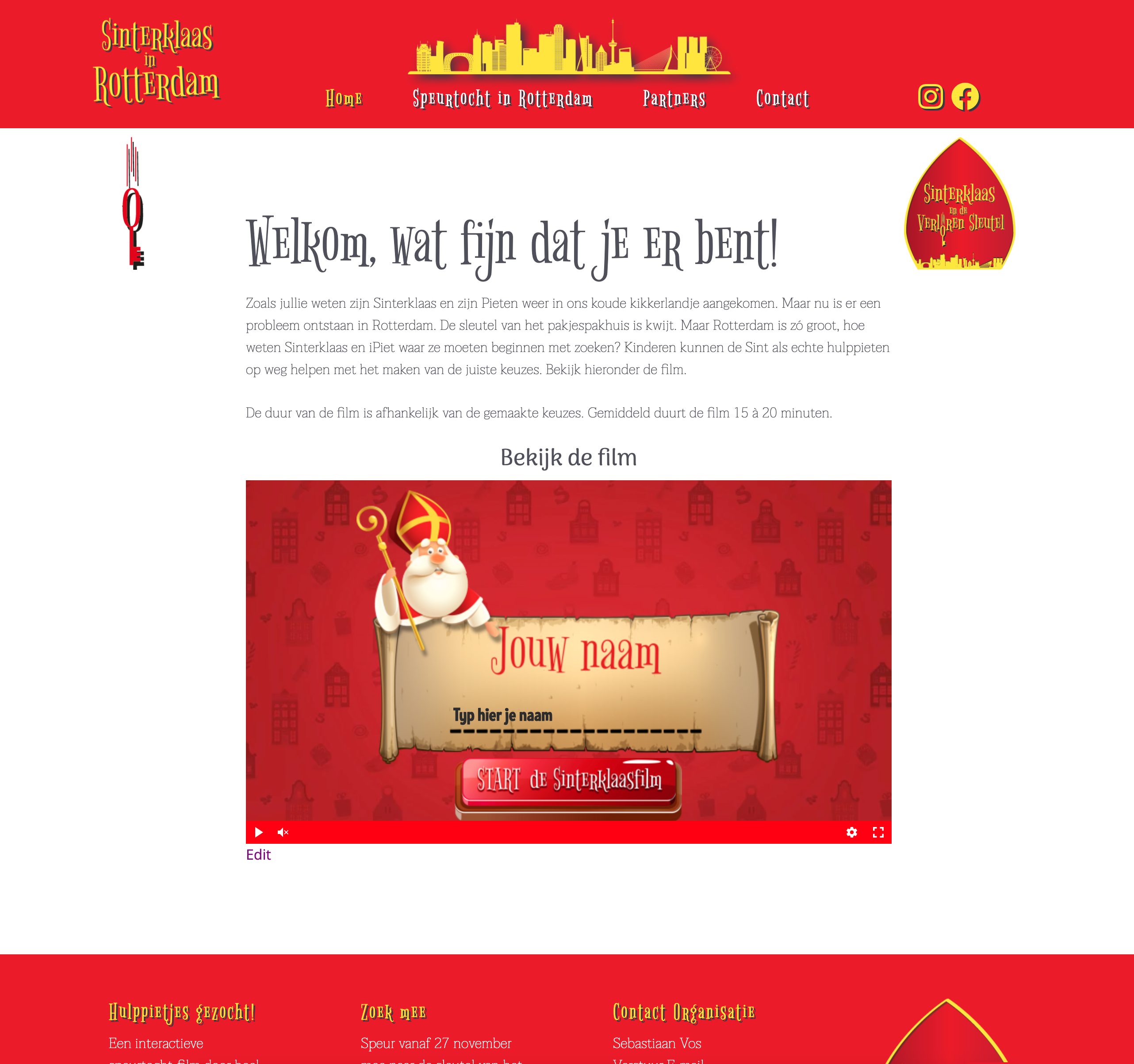 Website voor Sinterklaasintocht Rotterdam door BrandNewFresh