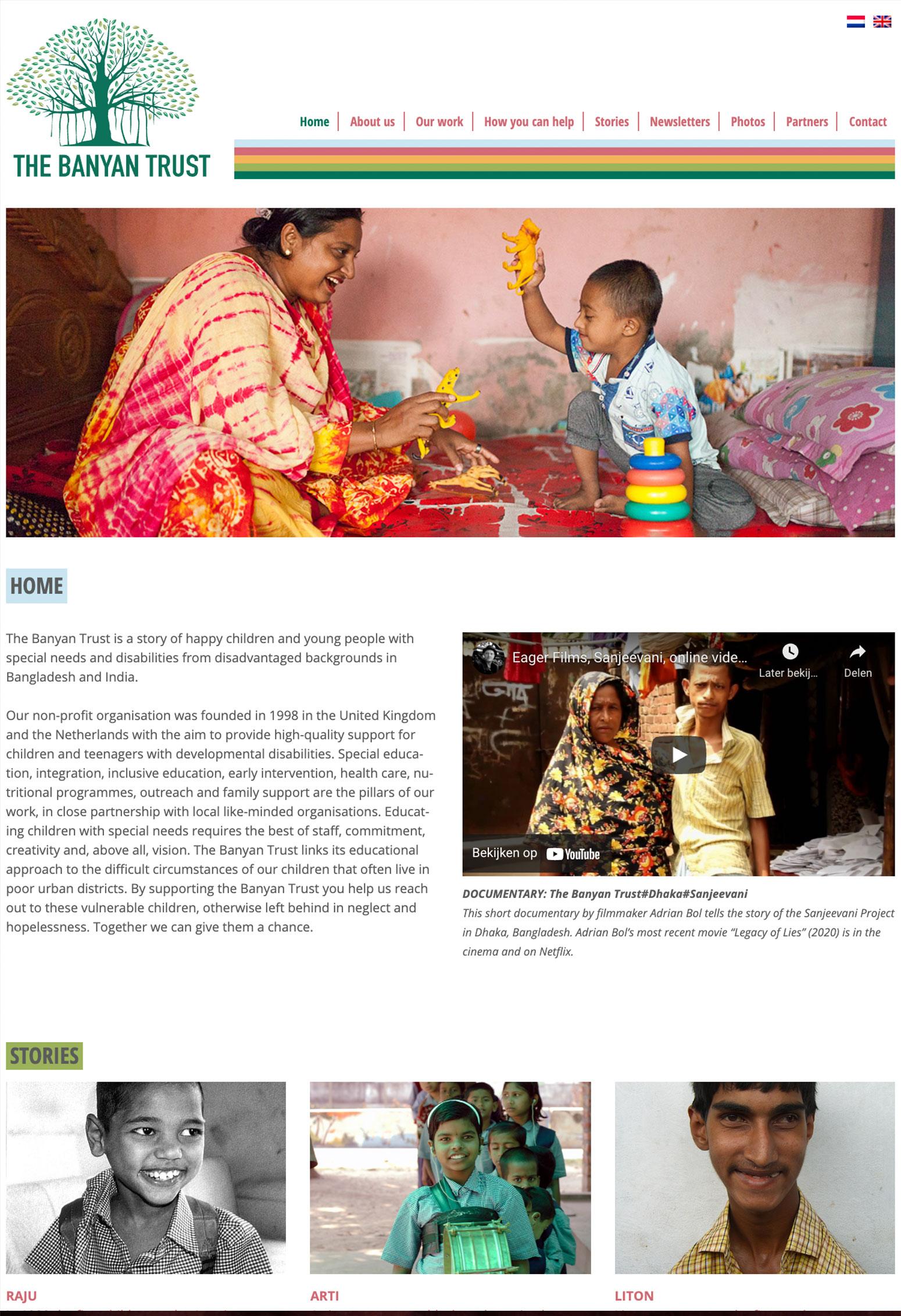 Website voor Bayan Trust door BrandNewFresh