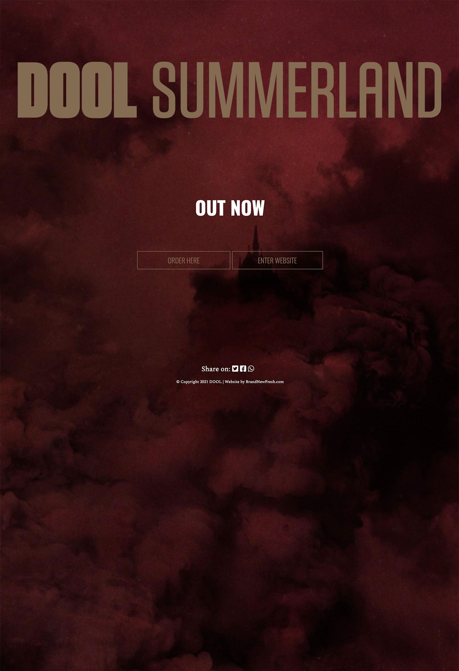 Website voor Dool Summerland door BrandNewFresh