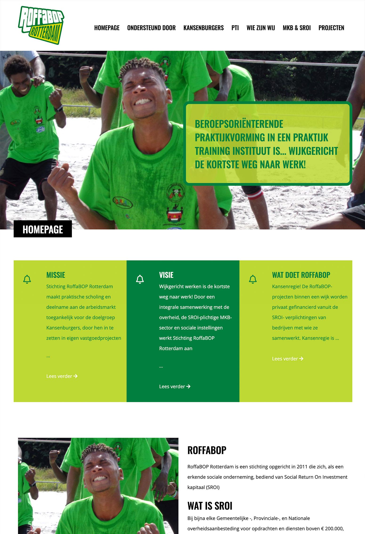 Website voor Roffabop door BrandNewFresh